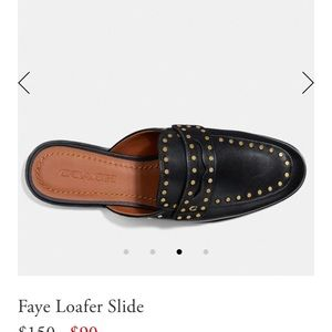 Coach loafer slide Faye Black 8.5